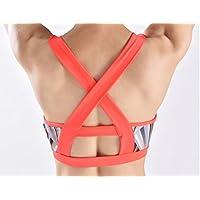 HETAO Adelgazar Star Impresión Ejercicio Fitness Correr Yoga Shock Underwear Cruz - Fija pecho Bra Sports Bra , pink , l Ejercicio saludable
