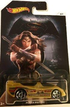 Mattel Batman Vs Superman Hot Wheels Power Pistons Wonder Woman DC Comics Exclusive Collectible #6