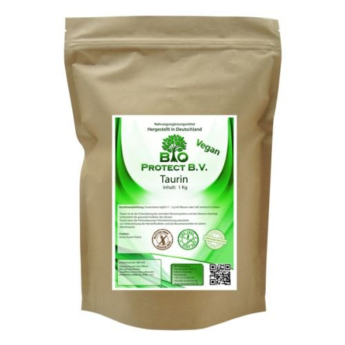 Taurin Pulver 1 Kg 100% rein ohne Zusatzstoffe! Bio Protect BV
