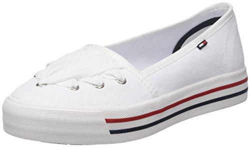 Hilfiger Denim Damen Tommy Jeans LACE Sneaker, Weiß (White 100), 39 EU