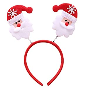 Manyo Weihnachten Haarband Spiralfeder Schneeflocke Cartoon Stirnband Party Cosplay Soft