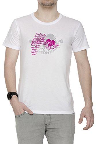 Surf Only Deserved Uomo T-shirt Bianco Cotone Girocollo Maniche Corte White Men's T-shirt