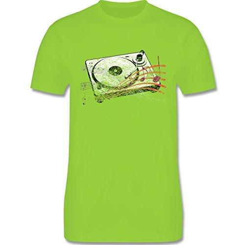 Music - Turntable - L190 Herren Premium Rundhals T-Shirt Hellgrün