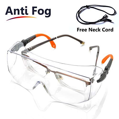 SAFEYEAR Schutzbrille für Brillenträger mit Lüftung- SG009 Baustelle Arbeitsbrille mit...