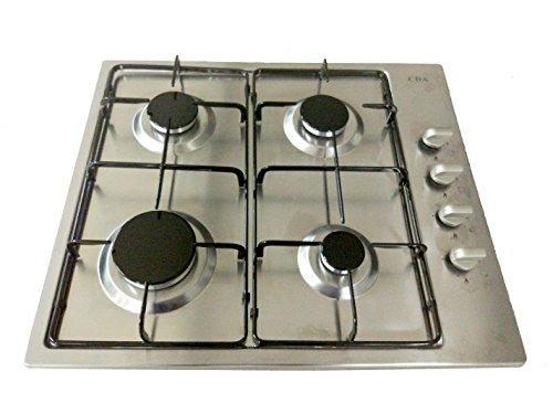 Cuisinière à Gaz Arebos en Acier Inoxydablede 4 brûleurs 58 cm