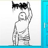 Jixiaosheng Wand -AufkleberL Aufkleber Keep Away Graffiti Städtische Jugend Teen Kühle Dekor -EntfernbareL Wandtattoo Für Jungen -Raum -Kunst -Wand 56 * 86Cm