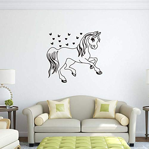 Niedlichen Cartoon Pony Star Wandaufkleber Für Kinderzimmer Kleine Mädchen Traum Dekoration DIY Schöne Kunstwandplakat 45X42CM