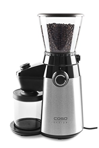 Caso Barista Flavour, elektrische Design- Kaffeemühle, Mahlgrad in 15 Stufen einstellbar,...