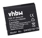 vhbw Li-Ion Batterie 1100mAh pour HTC ACE, Desire HD, A9191, A 9191 etc. remplace les...