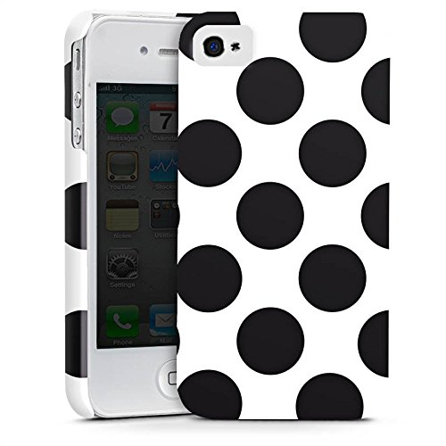 Apple iPhone X Silikon Hülle Case Schutzhülle Punkte Dots Rockabilly Premium Case glänzend