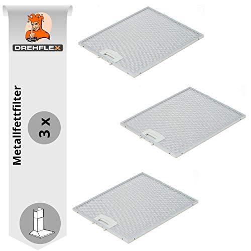 DREHFLEX - AK117-3 - 3x Metallfettfilter für Dunstabzugshaube 250x322mm Bosch Siemens Neff für Teile-Nr. 353110 00353110