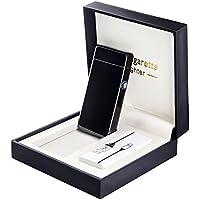 Fypo Briquet Electrique, Briquet USB Original en métal avec Double Arc Electrique Rechargeable pour Femme et Homme, Inépuisable et Ecologique avec Coffret