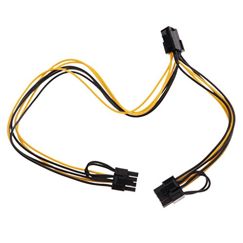 Sharplace 1 x PCI-e 8 Pin auf Dual 8-Pol./PCIe 8Pol-2 x (6 + 2 Pin) Grafikkarte Stromkabel -
