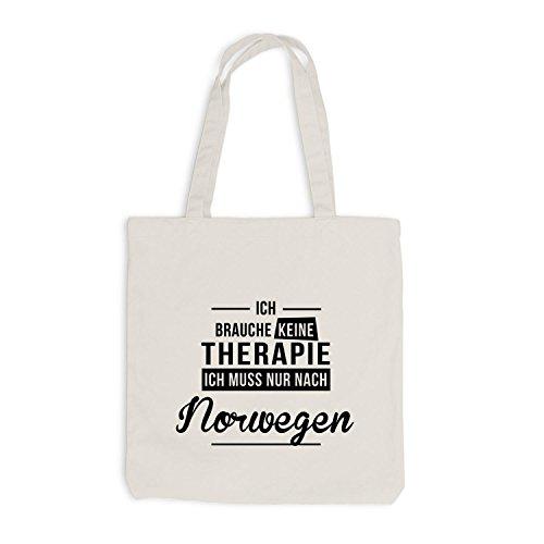 Borsa Di Juta - Non Ho Bisogno Di Terapia Norvegese - Terapia Vacanza Norvegia Beige