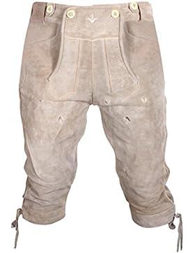 Gesteiner Leather Herren Trachten Lederhose Kniehose Wildleder Schlammbraun Gr. 46,48,50,52,54,56,58,60 Neu