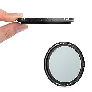 Rangers Extreme 72mm Variable ND2-400 Objektiv Filter 5.6mm Ultra Slim 20 Schicht Multi-beständiges beschichtetes deutsches Schott optisches Glas RA072