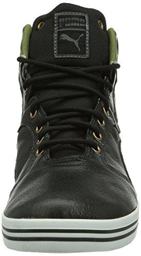 Puma Tatau Mid L Gtx, Baskets Hautes Homme Noir (Black-burnt Olive-dark Shadow-bronze-white)