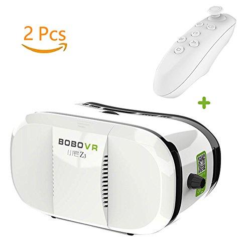 Comstore 2016 Neue Version 3D-VR-Virtual-Reality-Brille Headset mit Kopfmontage Stirnband und NFC Tag für 3,5-6,0 Zoll Smartphones Für 3D-Filme und Spiele, Google, iPhone, Samsung Note, LG, HTC (Z3 VR+Gamepad) (Smartphone Htc Entsperrt)