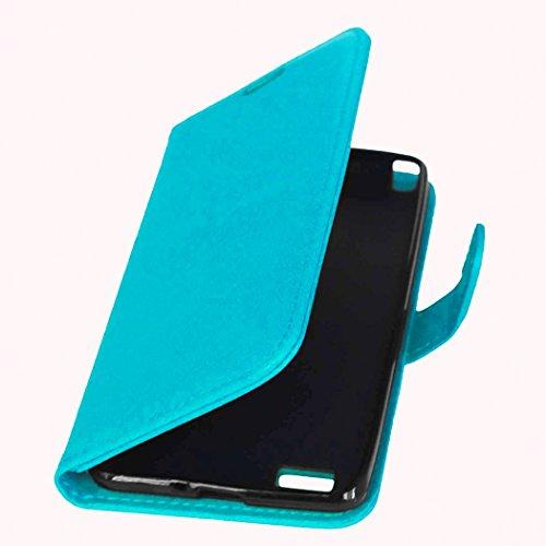 YHUISEN Solid Color Premium-PU-Leder-Mappen-Magnetic Buckle Design-Flip Folio Case Schutzhülle mit Kartensteckplatz / Stand für LG Bello II / Prime II / Max ( Color : Red ) Blue