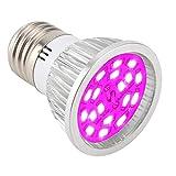 6W LED wachsen Licht für Zimmerpflanzen wachsen Lampe 18pcs LEDs volles Spektrum Pflanze leuchtet Birne Panel für Hydrokultur Gewächshaus Sämling Veg und Blume