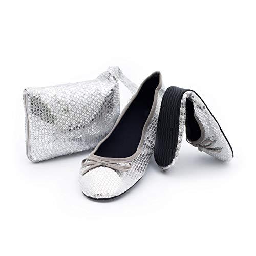 Catmotion fliters scarpe pieghevoli borsetta, l (40/41 eu, 6.5/7.5 uk)