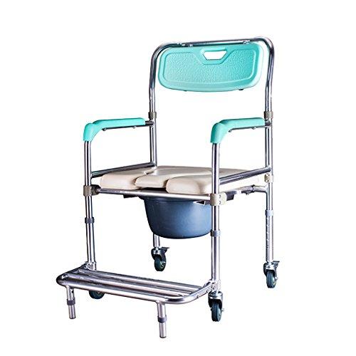 Chaise de toilette Siège de toilette Tabouret de toilette handicapé Pliable Toilette Roue Toilette Siège Toilette de sécurité