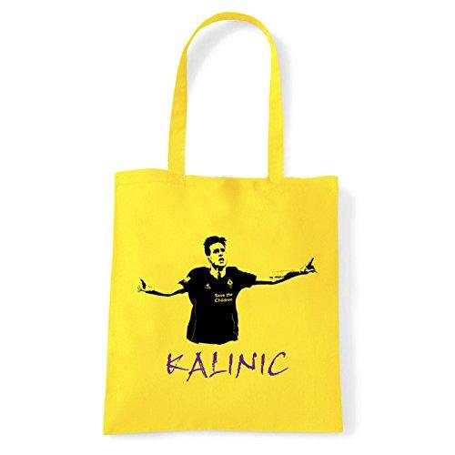 Art T-shirt, Borsa Shoulder Nikola Kalinic, Shopper, Mare Giallo