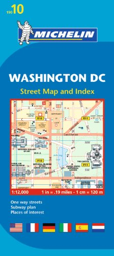 Michelin Washington DC Map 10 (Michelin City Map) por Michelin