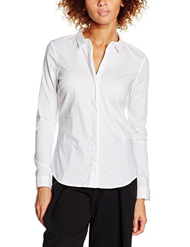 VERO MODA VMLADY FINE L/S SHIRT NOOS, Camicia Donna, Bianco (Bright White), 34 (Taglia Produttore: X-Small)