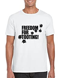 Freedom For Tooting - Mens/Adults Novelty Tshirt - Citizen Smith/Wolfie - Retro/Gift/Party/Fancy Dress