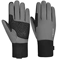 VBIGER Winter Cycling Gloves Touch Screen Waterproof Windproof -30~0°C Thermal Gloves Anti-slip Winter Sports Gloves with Thickened Fleece Lining and 3M Thinsulate Cotton Layer