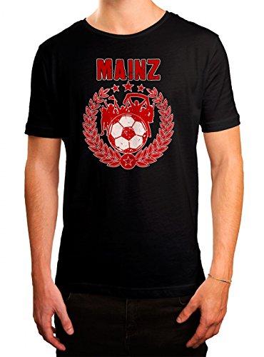 Mainz #3 Premium T-Shirt | Fussball | Fan-Trikot | #Jeden-Verdammten-Samstag | Herren | Shirt, Farbe:Schwarz (Deep Black L190);Größe:XL (Fußball-trikot Bell)