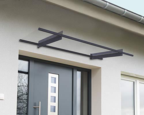 ustürvordach - Moderner gerader Unterstand als Vordach für den Eingang am Haus - Haustür Überdachung aus 4 mm Polycarbonat und Aluminium Profil ()