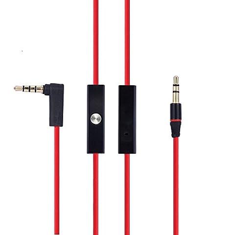 LANMU 3,5 mm remplacement câble pour Beats audio casque Cord