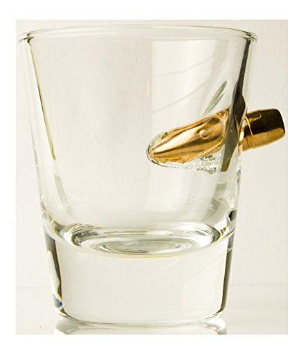 das glas geschenk f r echte m nner handmade shot glas mit patrone. Black Bedroom Furniture Sets. Home Design Ideas