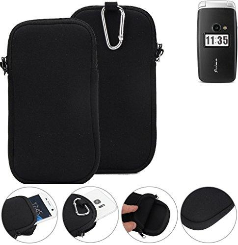 K-S-Trade Neopren Hülle für Doro Primo 413 Schutzhülle Neoprenhülle Sleeve Handyhülle Schutz Hülle Handy Gürtel Tasche Case Handytasche schwarz