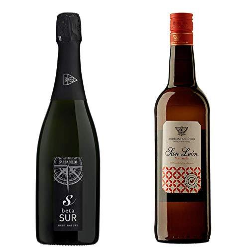 Betasur Y Manzanilla San León - Vino De La Tierra De Cádiz Y D. O. Manzanilla De Sanlúcar De Barrameda - 2 Botellas De 750 Ml