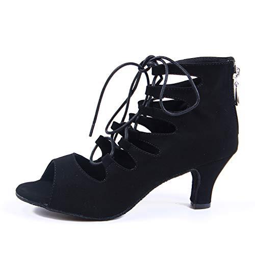 Syrads Zapatos de Baile Latino para Mujer Salsa Tango Bachata Vals Zapatos de Baile de Salón Suela...