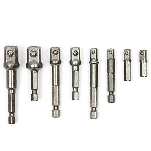 Preisvergleich Produktbild TILY 8 Sockel Nuss Treiber Adapter Set 1/10,2 cm 3/20,3 cm 1/5,1 cm Power Extension Bar Hex Shank Impact Treiber-Bohrer Bits