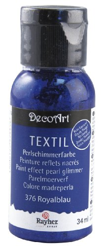 z Textil Stoffmalfarbe/ Textilfarbe royalblau, Flasche 34 ml, hochdeckend, cremige Acrylfarbe speziell für Textilien, waschfest, irisierend, glänzend, Perl-Schimmer ()