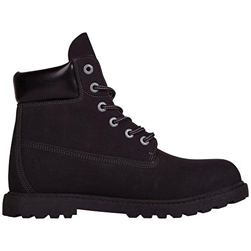 Kappa - Kombo Mid Footwear Unisex, Alte Scarpe Da Ginnastica, unisex Nero (1116 black/grey)