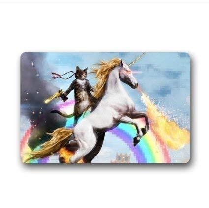 fbd68d0d16ce8 XIEXING Water Absorption Reactive Dyeing Durability Doormat Custom Cat  Unicorn Rainbow Gun Deagle Machine Washable Door Mats Indoor House Doormat
