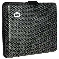 Ögon Smart Wallets - Portefeuille Format Carte d'identité et permis de Conduire - RFID Protection : protège Vos Cartes Contre la fraude - Jusqu'à 10 Cartes - Aluminium anodisé (Imprimé Carbon)