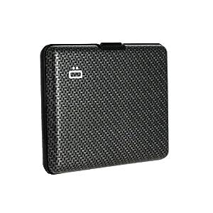 Ögon Smart Wallets - Portefeuille Format Carte d'identité et permis de Conduire - RFID Protection : protège Vos Cartes Contre la fraude - Jusqu'à 10 Cartes (Carbon)