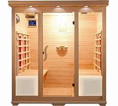Idea Regalo - Sauna a Infrarossi cm 175x135 con 4 sedute radio profumoterapia cromoterapia I