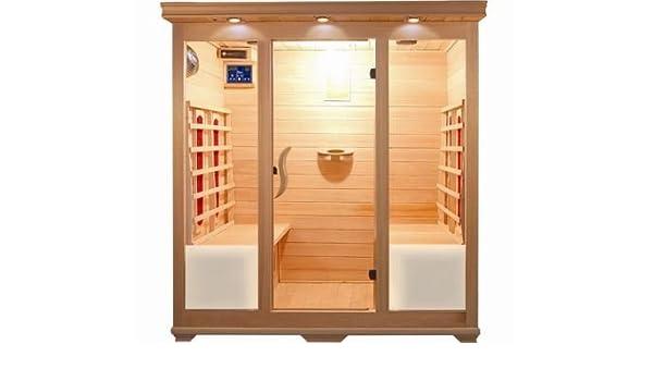 Sauna infrarossi per persone in legno hemlock con