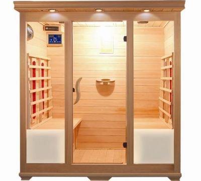 Sauna Infrarossi 175x135 per 4 persone in Legno Hemlock con Cromoterapia