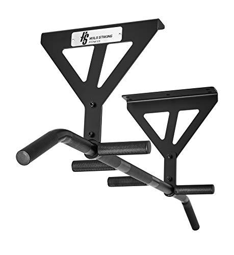 HOLD STRONG Fitness Multi-Grip Klimmzugstange für die Decke - HS-KV-D6 - Profiqualität - Farbe: Schwarz