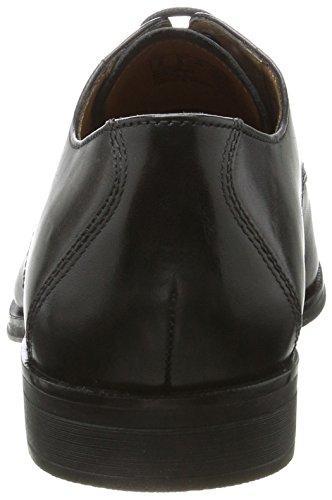 Clarks Herren Gilman Mode Derbys Schwarz (Black Leather)