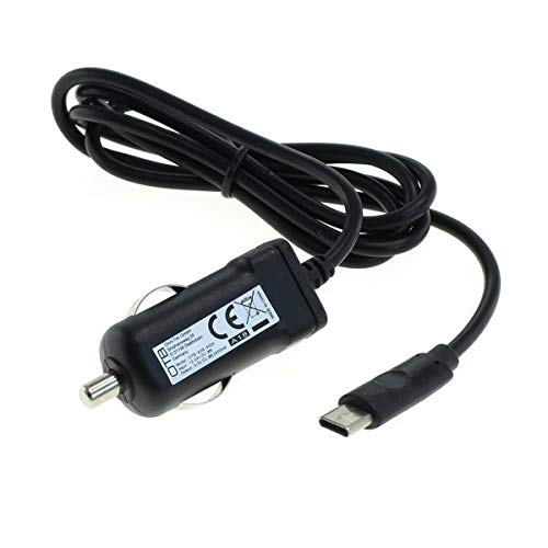 subtel® Qualitäts KFZ-Ladekabel - 1.1m (2.4A) kompatibel mit Lenovo Tab4 8 Plus / 10 Plus/Yoga Tab 3 Plus (5V / USB C (Type C)) 12V/24V Ladegerät Netzteil Charger